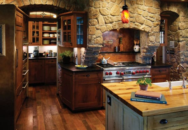 Rustic Kitchens in Mountain Homes-36-1 Kindesign