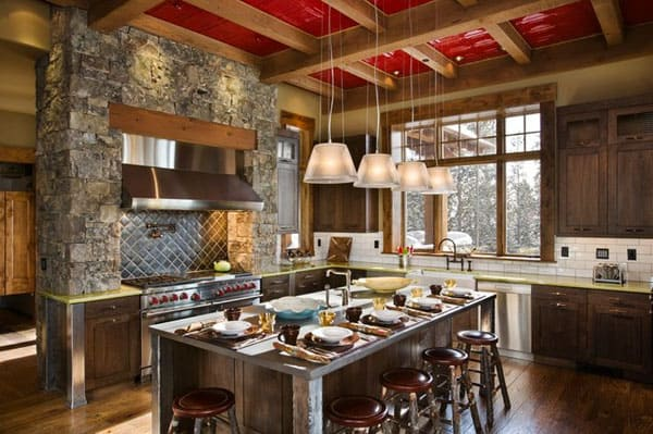 Rustic Kitchens in Mountain Homes-38-1 Kindesign