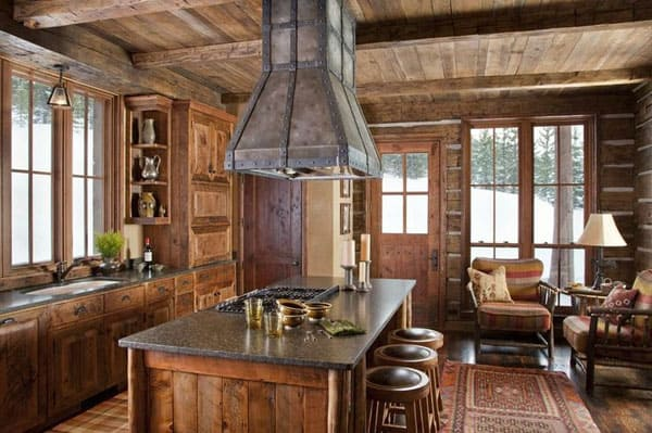 Rustic Kitchens in Mountain Homes-39-1 Kindesign