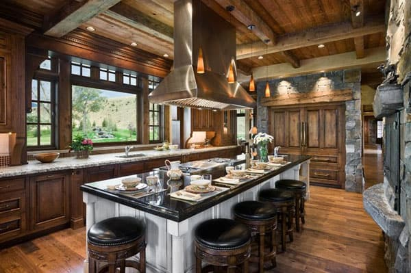 Rustic Kitchens in Mountain Homes-41-1 Kindesign