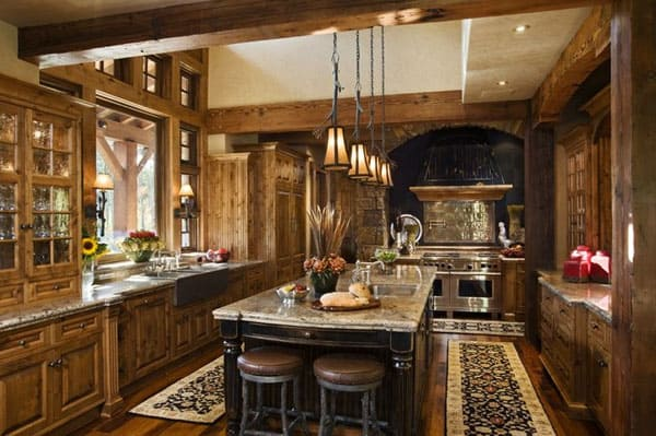 Rustic Kitchens in Mountain Homes-43-1 Kindesign