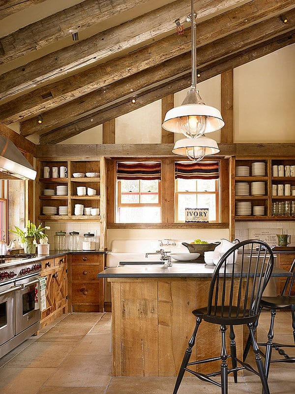 Rustic Kitchens in Mountain Homes-47-1 Kindesign