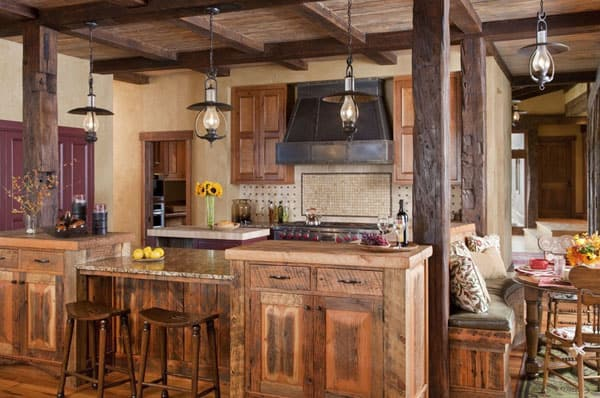 Rustic Kitchens in Mountain Homes-50-1 Kindesign