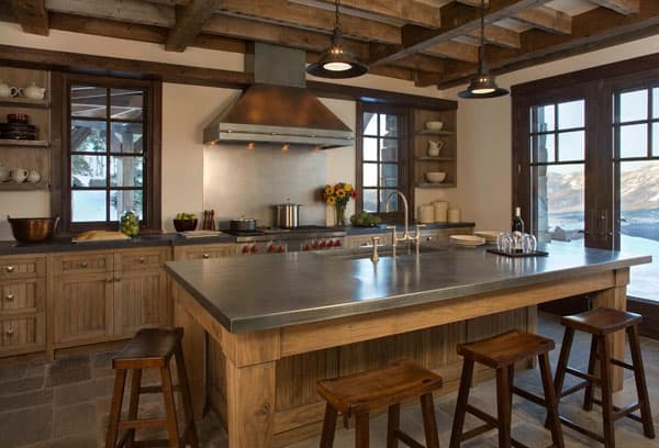 Rustic Kitchens in Mountain Homes-52-1 Kindesign