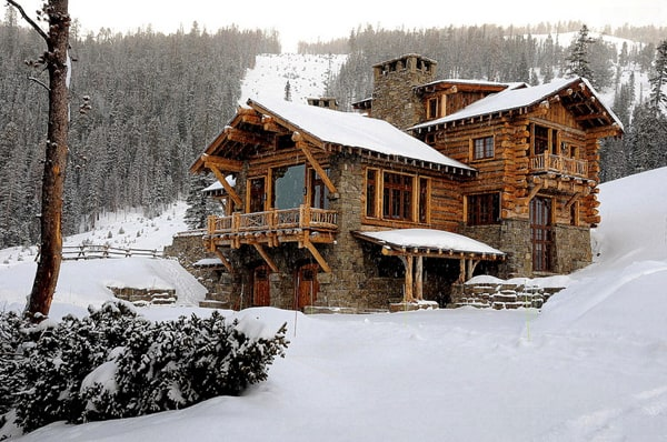 featured posts image for Cozy ski lodge retreat boasting rustic elegance in Big Sky