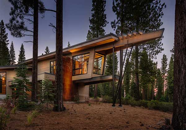 featured posts image for Modern mountain home in the high Sierras: Flight House