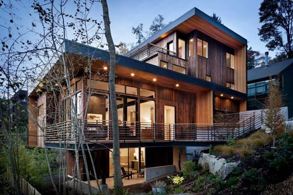 featured posts image for Light-flooded custom-spec house nestled hillside in Seattle