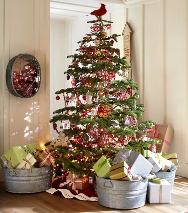Rustic Christmas Decorating Ideas-10-1 Kindesign