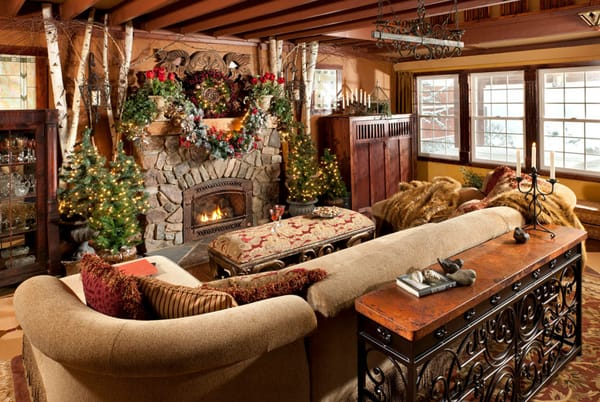 Rustic Christmas Decorating Ideas-32-1 Kindesign