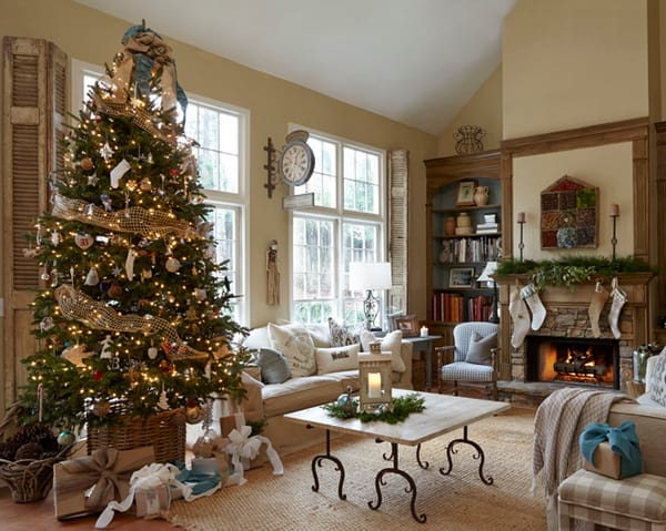 Rustic Christmas Decorating Ideas-51-1 Kindesign