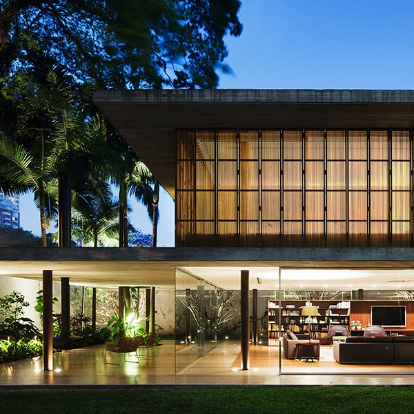 featured posts image for Visually stunning modern home design in Brazil: Toblerone House