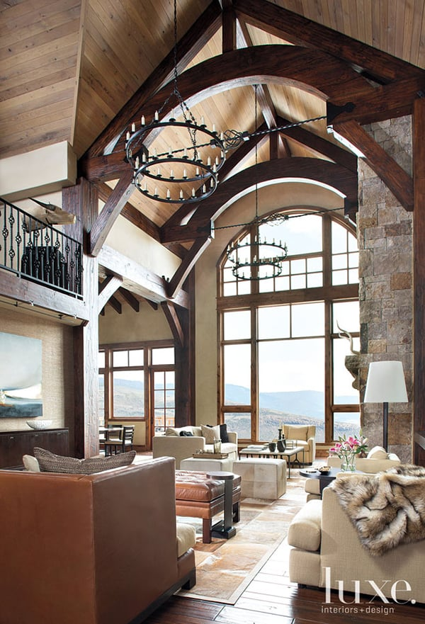 featured posts image for Contemporary forms meet rustic nuances in Vail Valley home