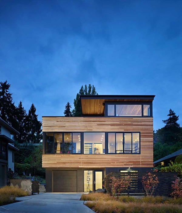 featured posts image for Three-story modern pad built for cyclists in Seattle: Cycle House