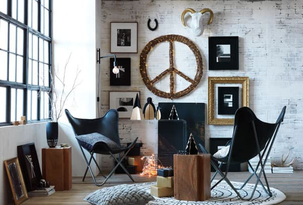 Modern Christmas Decorated Living Rooms-46-1 Kindesign