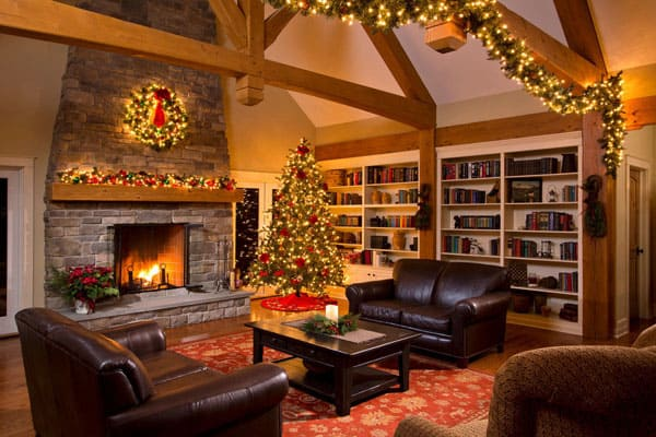 Modern Christmas Decorated Living Rooms-48-1 Kindesign
