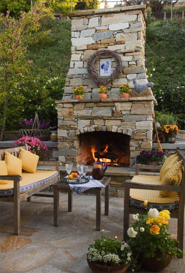 53 Most amazing outdoor fireplace designs ever on Small Outdoor Fireplace Ideas id=39759