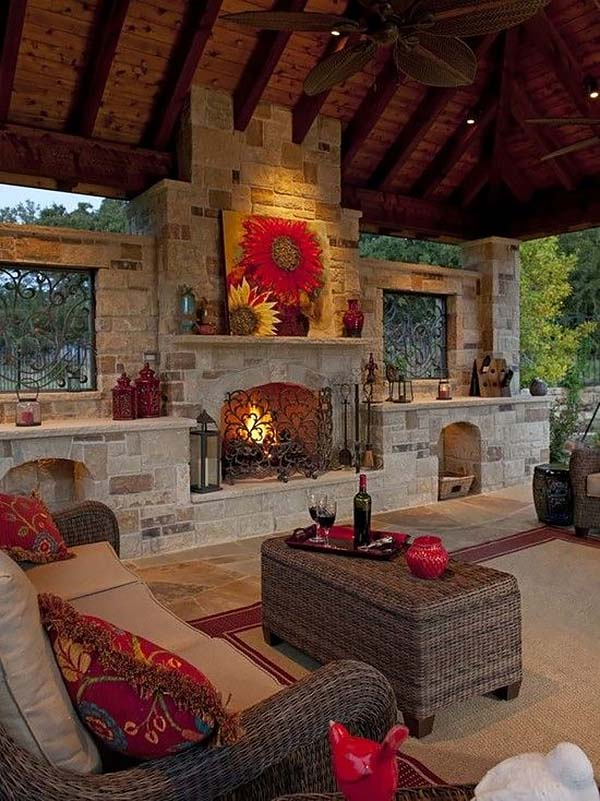 53 Most amazing outdoor fireplace designs ever on Small Outdoor Fireplace Ideas id=26509