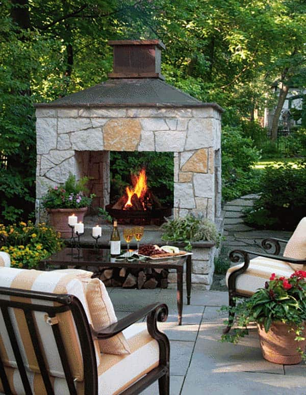 53 Most amazing outdoor fireplace designs ever on Small Outdoor Fireplace Ideas id=94234