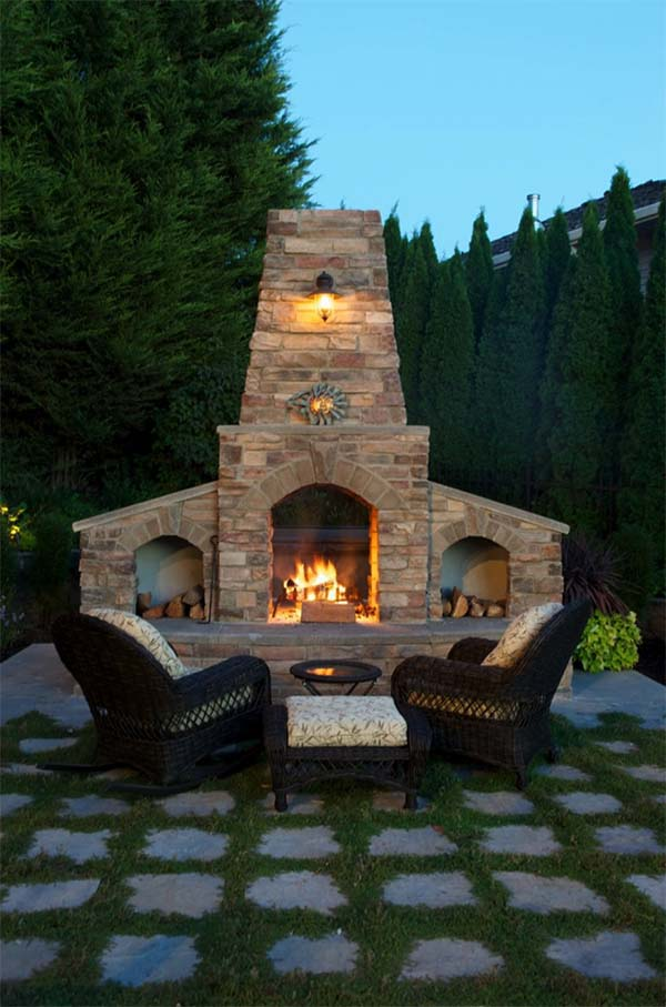 53 Most amazing outdoor fireplace designs ever on Amazing Outdoor Fireplaces id=47398