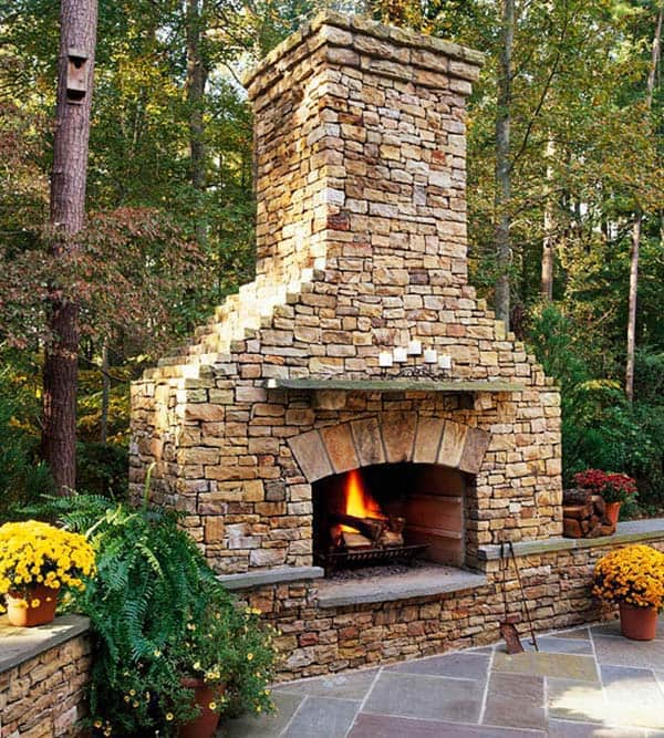 53 Most amazing outdoor fireplace designs ever on Small Outdoor Fireplace Ideas id=39820
