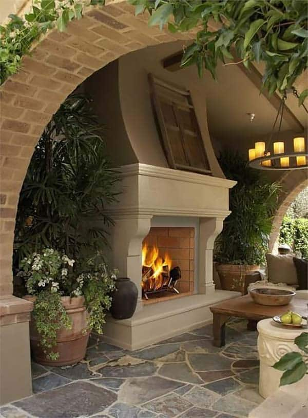 53 Most amazing outdoor fireplace designs ever on Amazing Outdoor Fireplaces id=86348