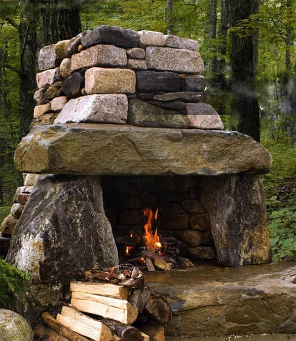 53 Most amazing outdoor fireplace designs ever on Small Outdoor Fireplace Ideas id=24041