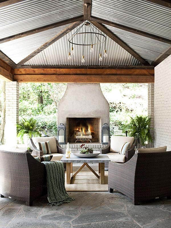 53 Most amazing outdoor fireplace designs ever on Amazing Outdoor Fireplaces id=20380