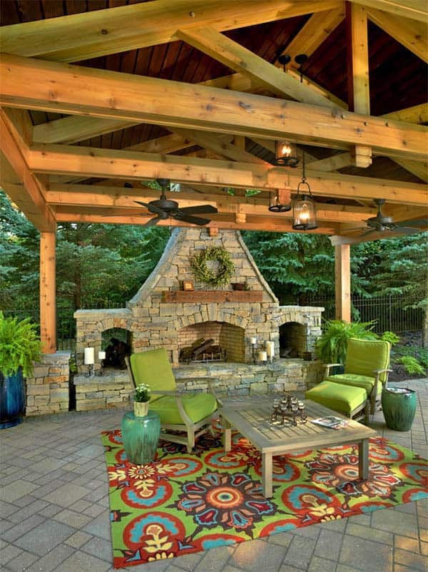 outdoor fireplace designs 29 1 kindesign - Outdoor Patio Plans