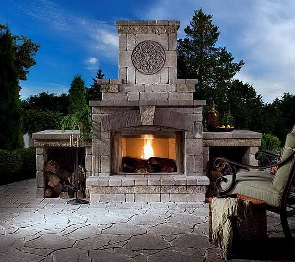 53 Most amazing outdoor fireplace designs ever on Amazing Outdoor Fireplaces id=39694