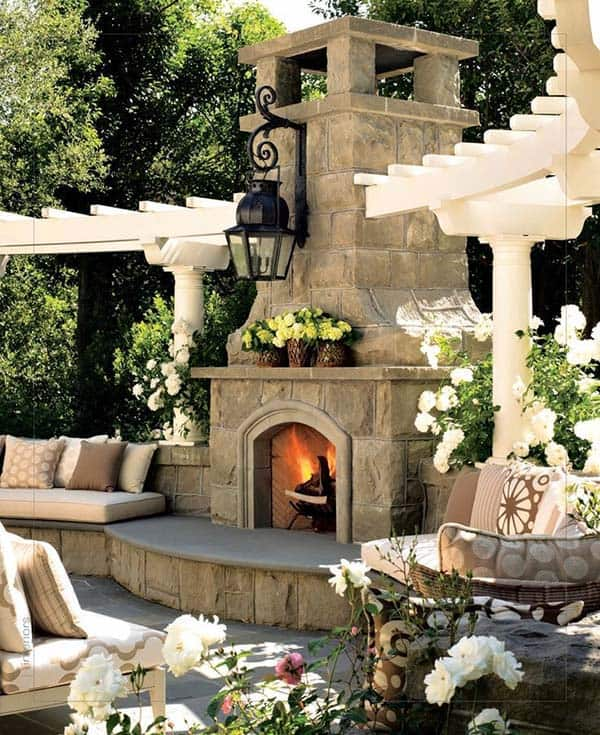 53 Most amazing outdoor fireplace designs ever on Amazing Outdoor Fireplaces id=42222