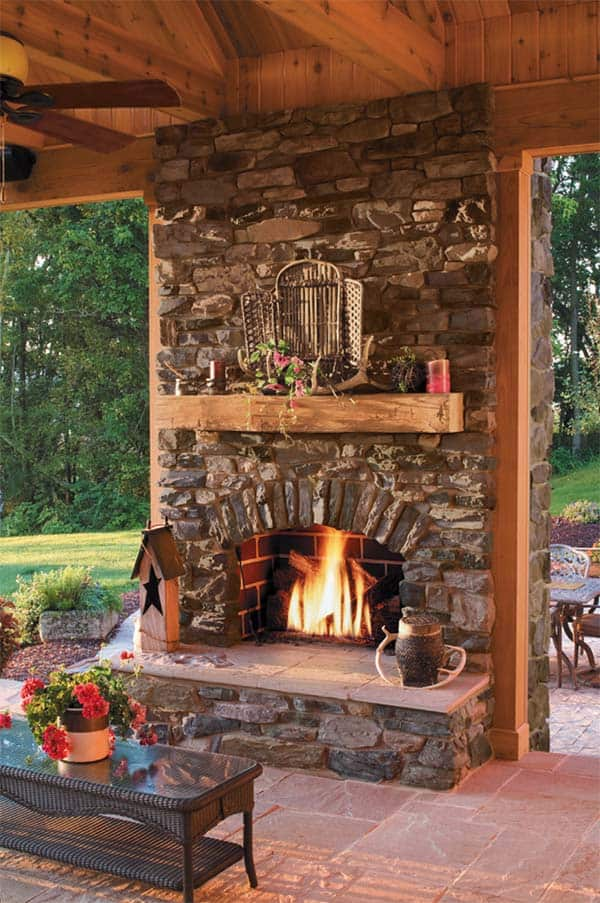 53 Most amazing outdoor fireplace designs ever on Amazing Outdoor Fireplaces id=18905