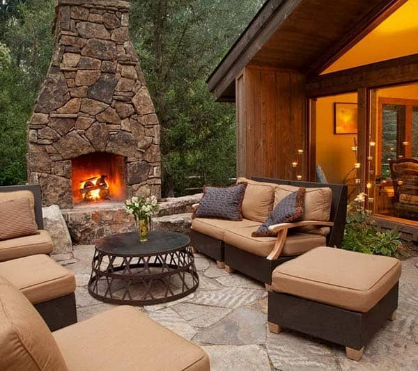 Outdoor Fireplace Design Ideas: 53 Most Amazing Outdoor Fireplace Designs Ever