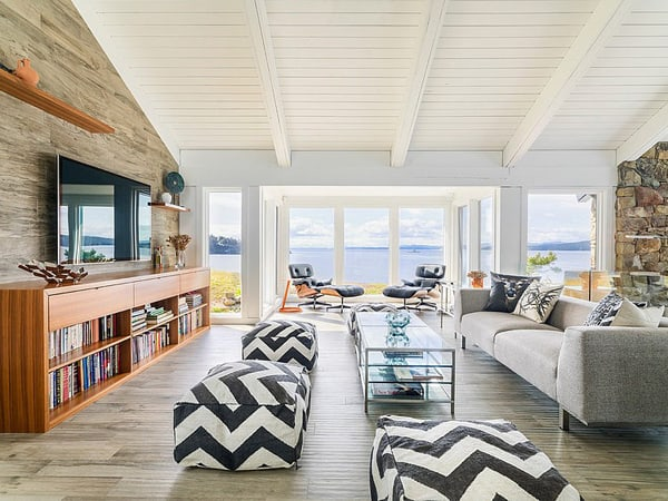 Mid Century Modern Beach House Retreat On Pender Island