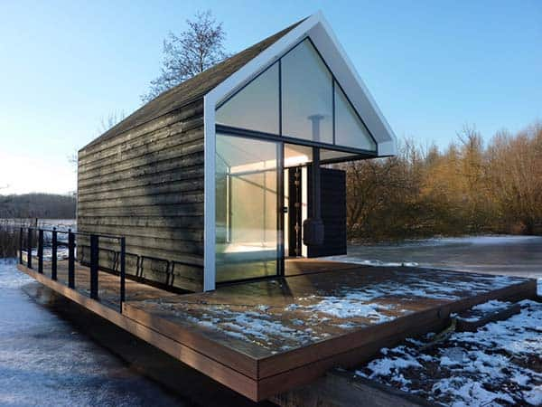 featured posts image for Glass Prefab Cabin: Recreational Island House in The Netherlands
