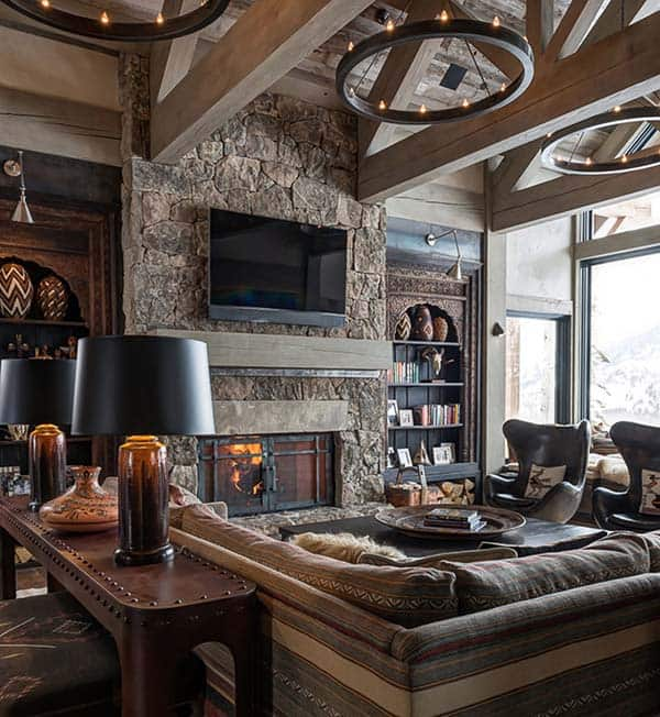 35 Cozy Home Interior Design Ideas: Sumptuous Montana Retreat Featuring Cozy Rustic-modern