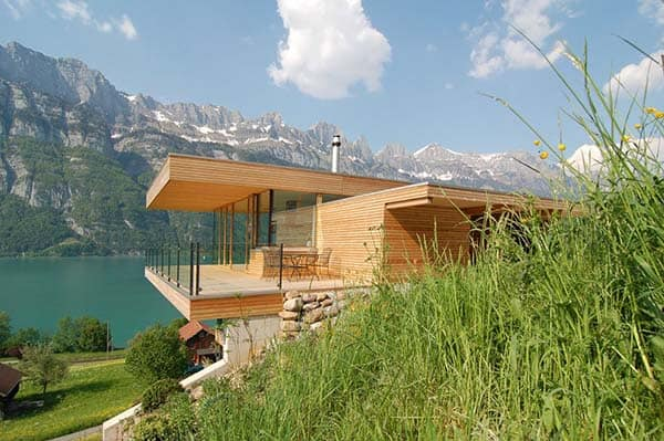 featured posts image for Clean lines and maximized views in Switzerland: Wohnhaus am Walensee