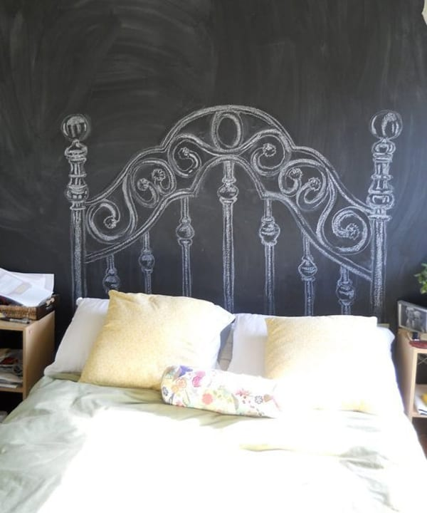 Chalkboard Headboard Ideas-04-1 Kindesign