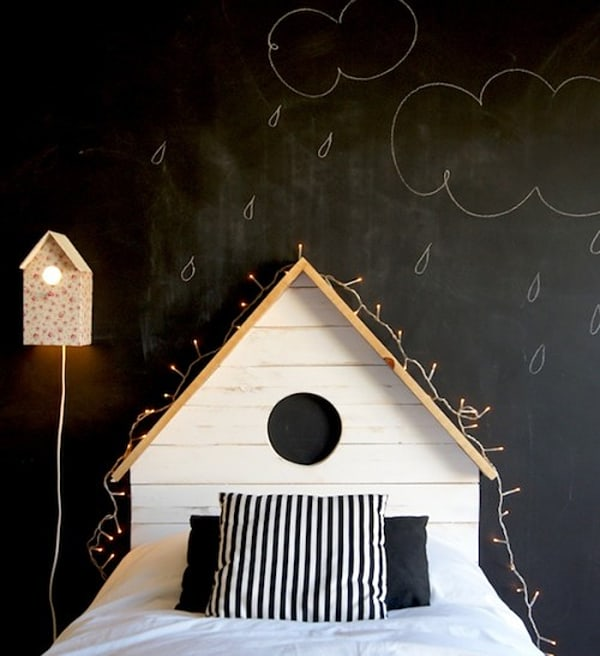 Chalkboard Headboard Ideas-05-1 Kindesign