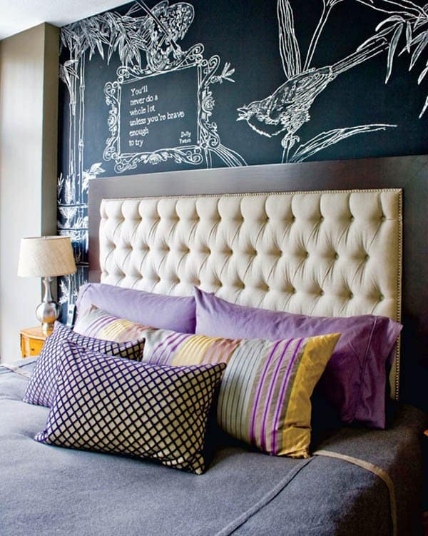 Chalkboard Headboard Ideas-12-1 Kindesign