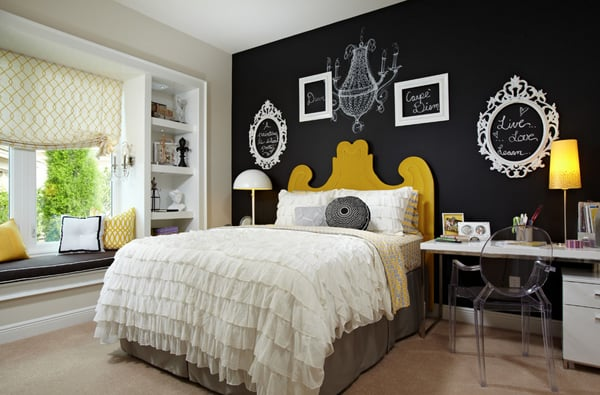 Chalkboard Headboard Ideas-15-1 Kindesign