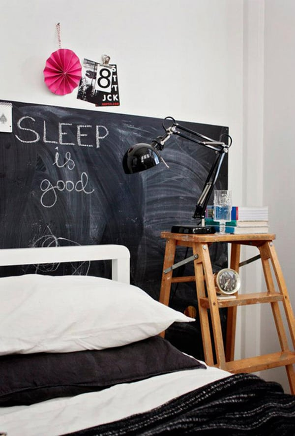 Chalkboard Headboard Ideas-22-1 Kindesign