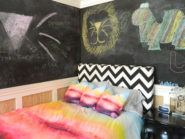 Chalkboard Headboard Ideas-41-1 Kindesign