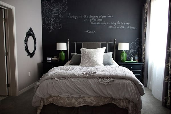 Chalkboard Headboard Ideas-42-1 Kindesign