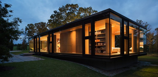 featured posts image for Modern steel and glass dwelling in New York: LM Guest House