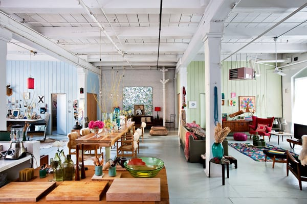 featured posts image for Modern bohemian style warehouse loft in DUMBO, New York