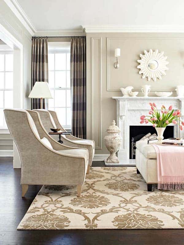 Neutral Living Room Designs-26-1 Kindesign
