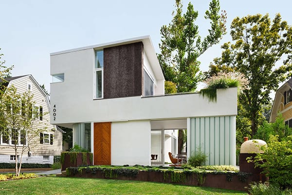 featured posts image for Bringing the Outside Indoors: Trees on the Roof House in Maryland