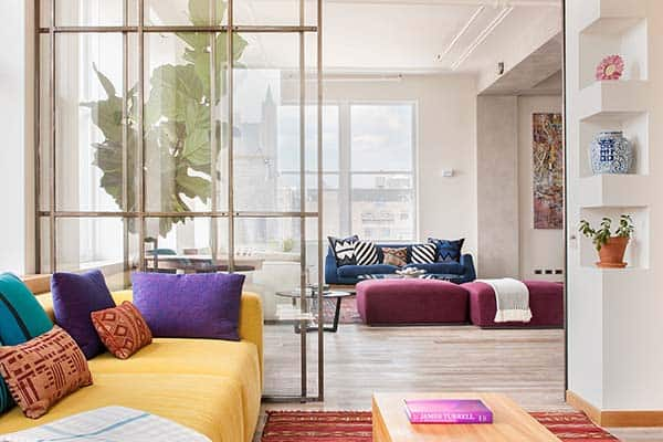 featured posts image for Industrial SoHo loft showcasing homey interiors by Casamanara