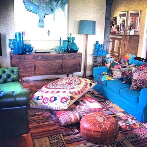 Bohemian Chic Living Rooms-05-1 Kindesign