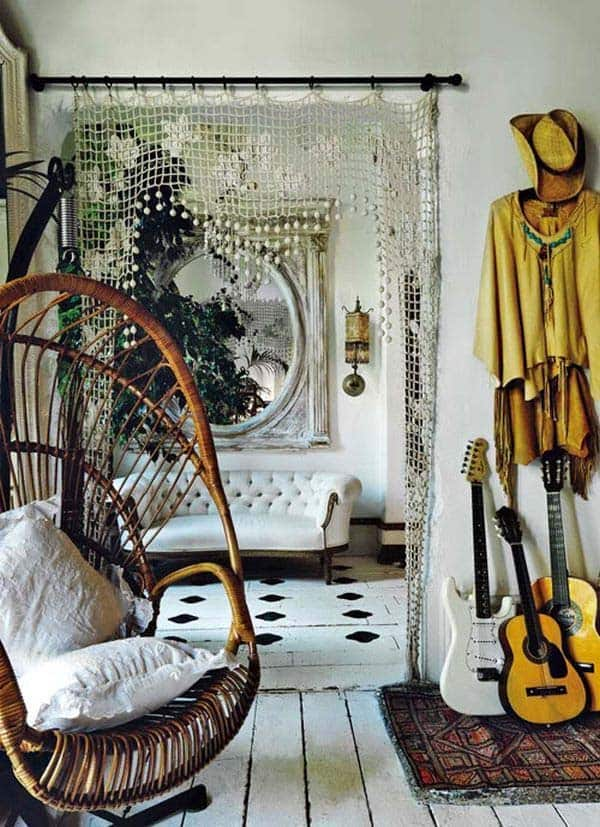 Bohemian Chic Living Rooms-07-1 Kindesign